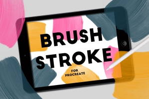Brush Strokes Stamps For Procreate