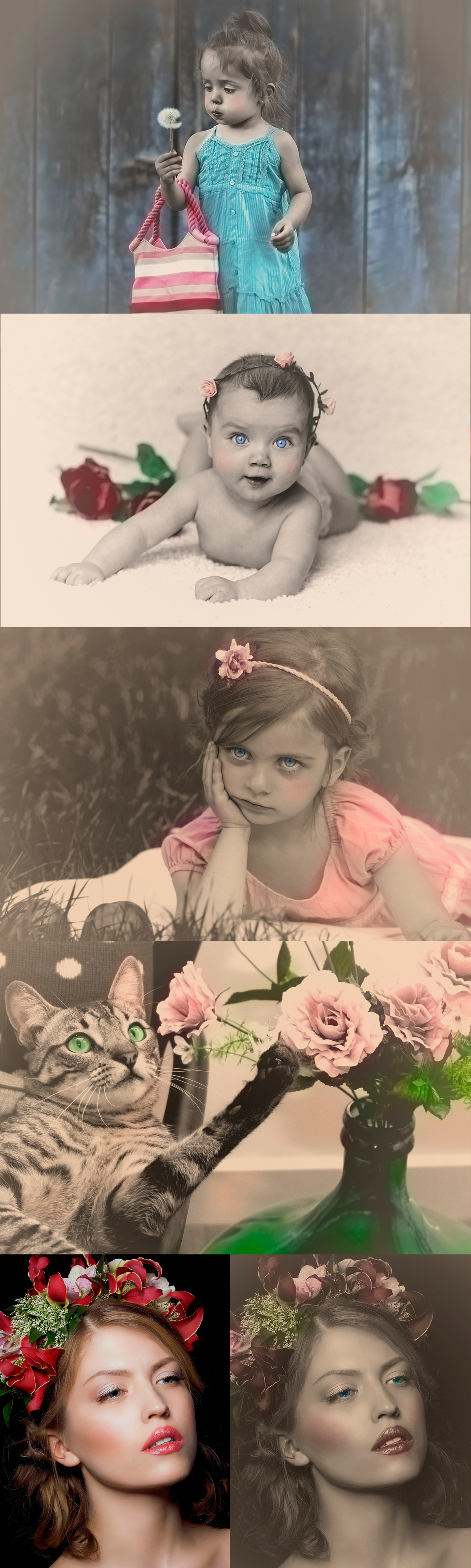 Colorized Old Photo Effects For Photoshop