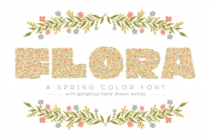Flora Color Display Font