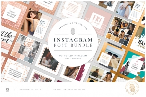 Foiled - Instagram Post Bundle
