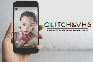 Glitch & VHS - Animated Instagram Stories Pack