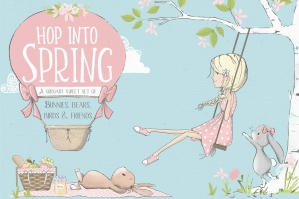 Hop Into Spring Illustration Kit