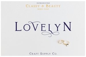Lovelyn - Classy and Beauty Serif Font