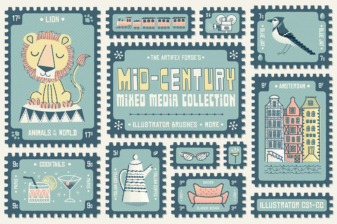 Mid-Century Mixed Media Collection