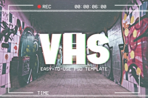 Photoshop VHS Template