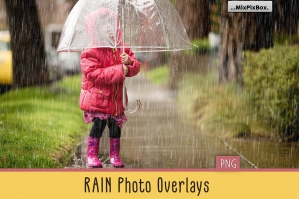 Realistic Rain Photo Overlays