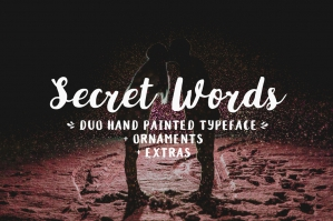Free: Secret Words Font Duo