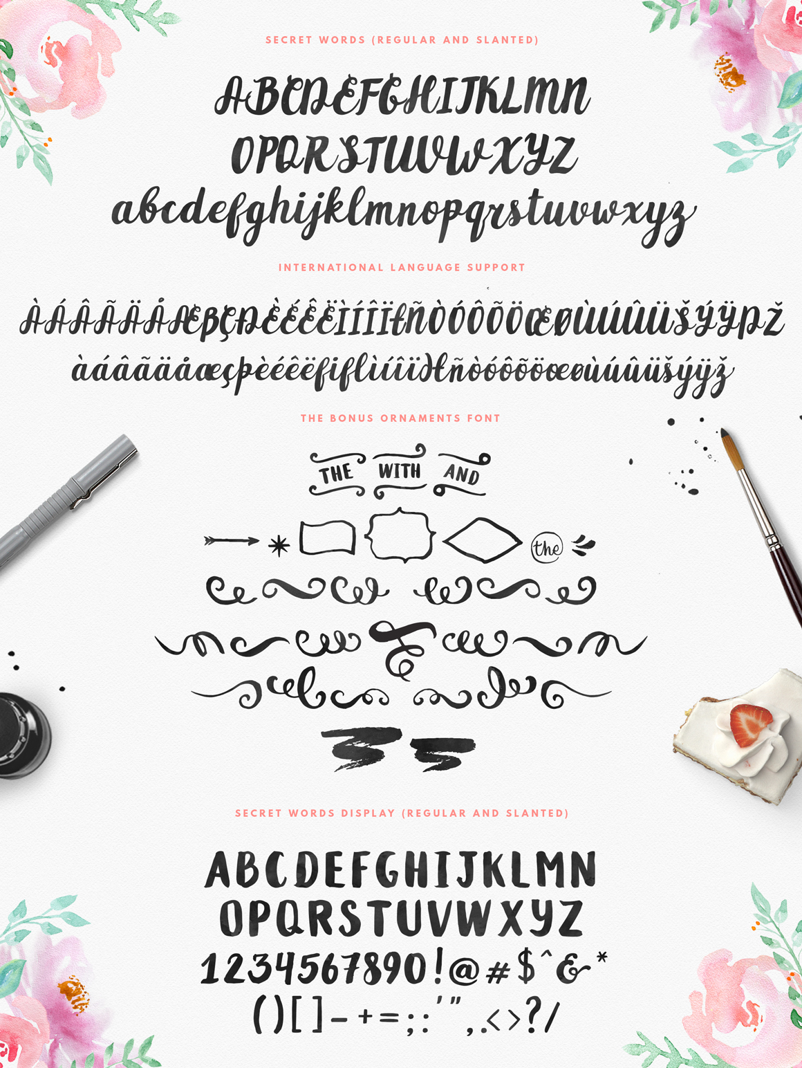 Secret Words Font Duo