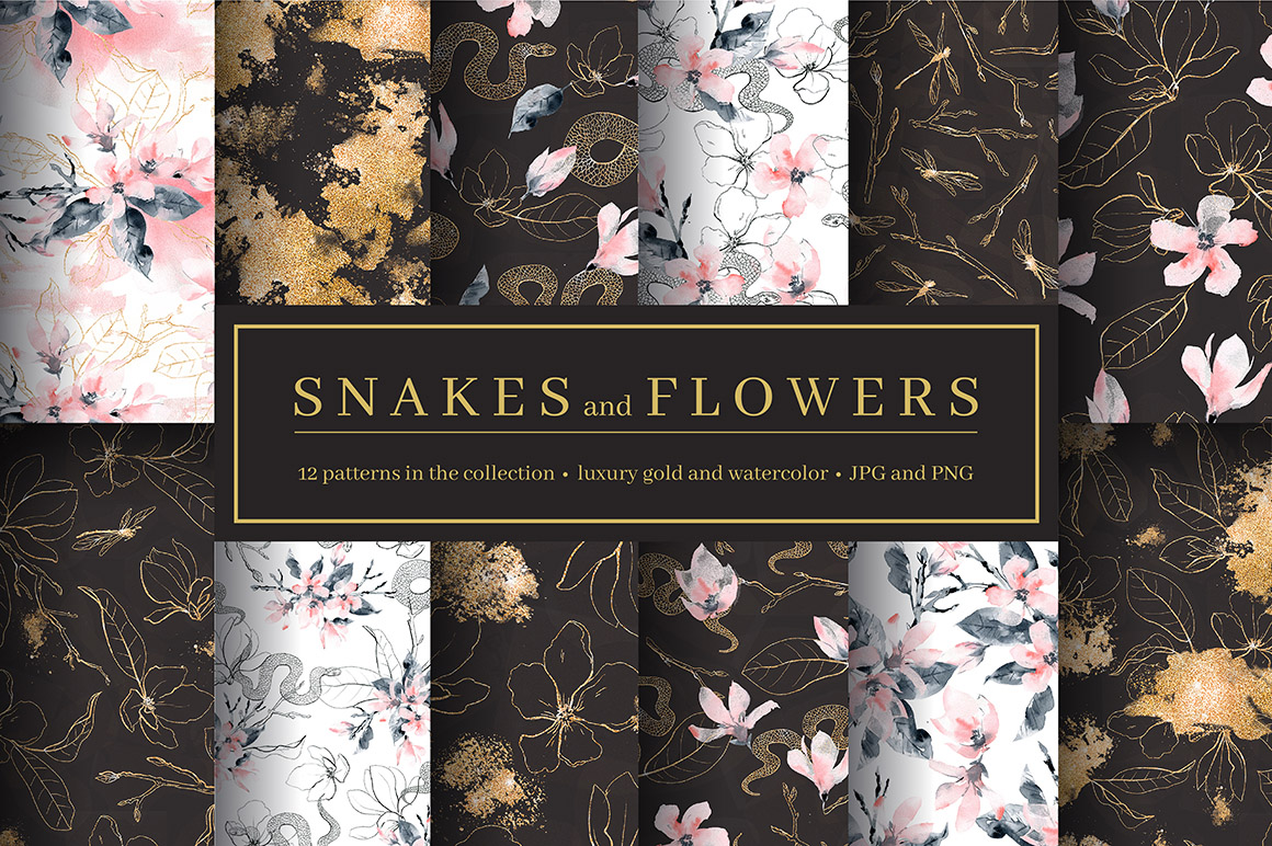 Snakes and Flowers - Pattern Collection