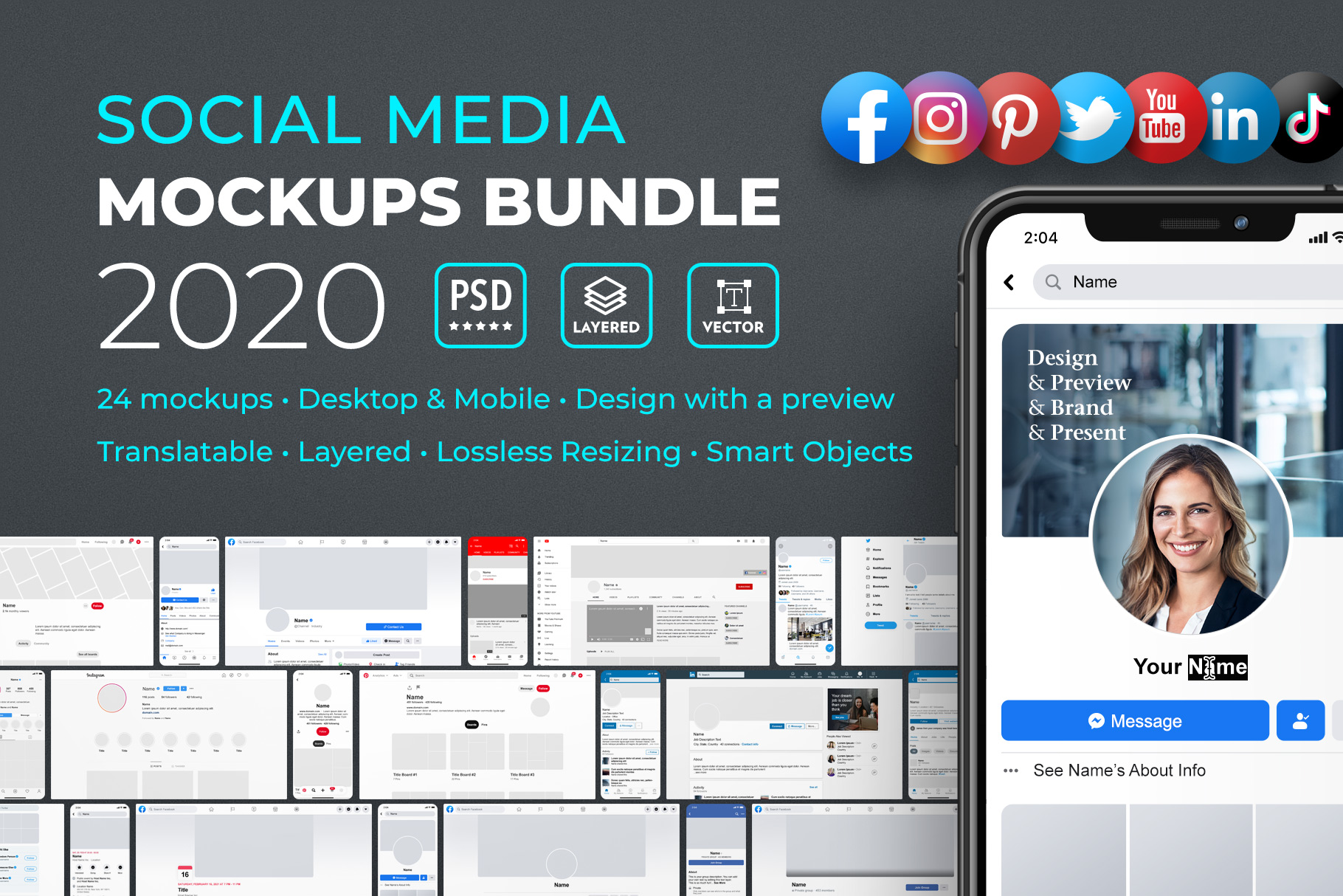 Social Media Mockups Collection 2019