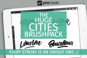 The Huge Cities Brushpack for Procreate
