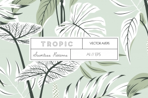 Tropic Seamless Patterns