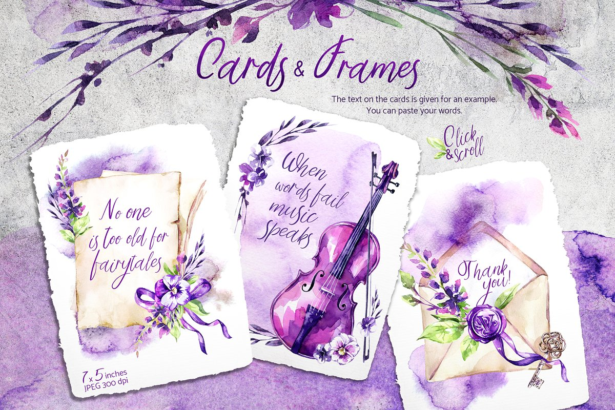 Violet Melody Watercolor Collection