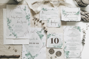 Watercolor Eucalyptus Wedding Suite
