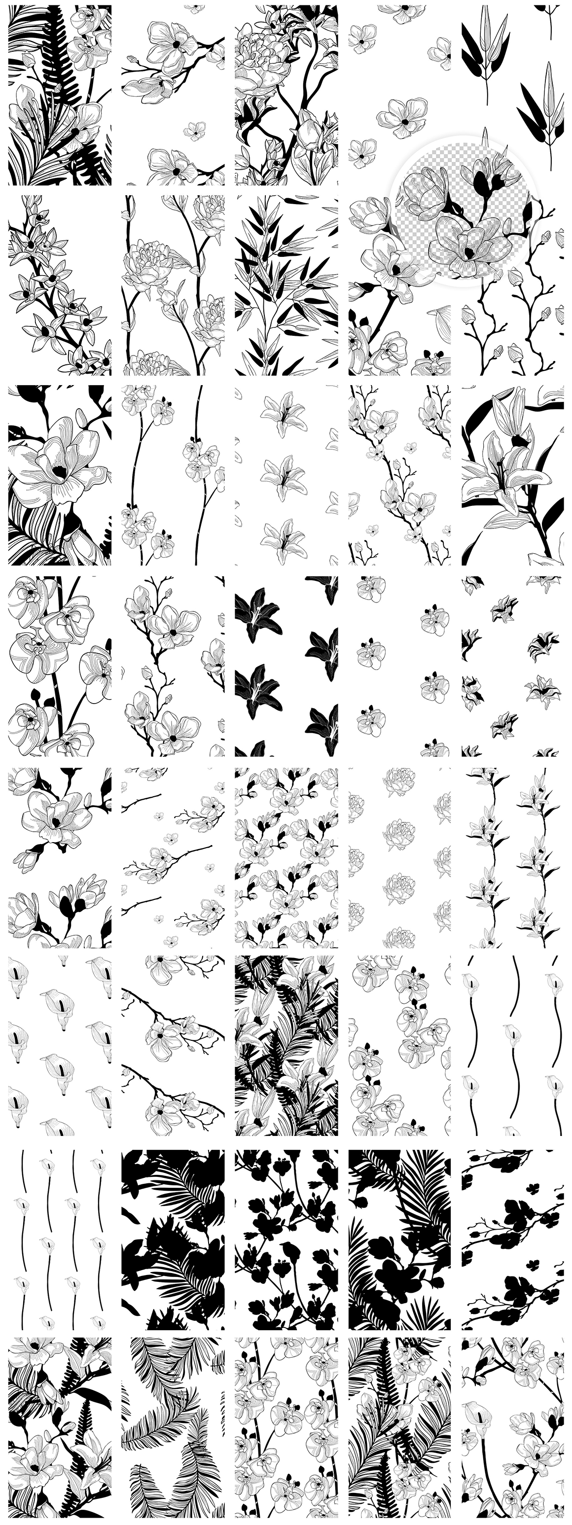 35 Floral Patterns And 8 Instagram Templates