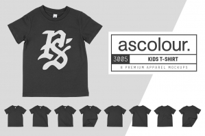 AS Colour 3005 Kid's T-Shirt Mockups