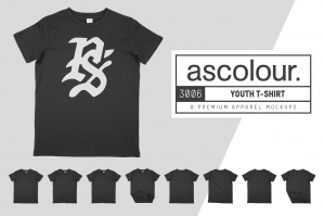 AS Colour 3006 Youth T-Shirt Mockups
