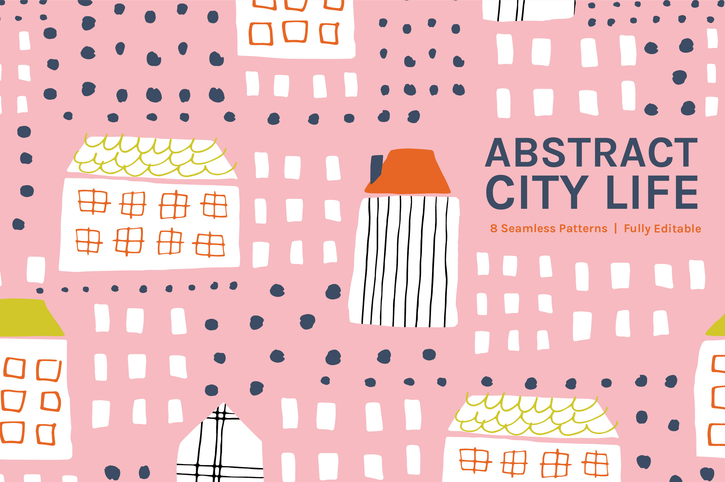 Abstract City Life Patterns Collection