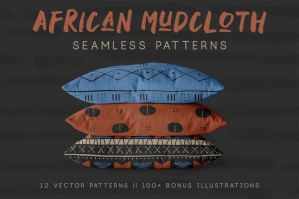 Traditional African Mudcloth Patterns