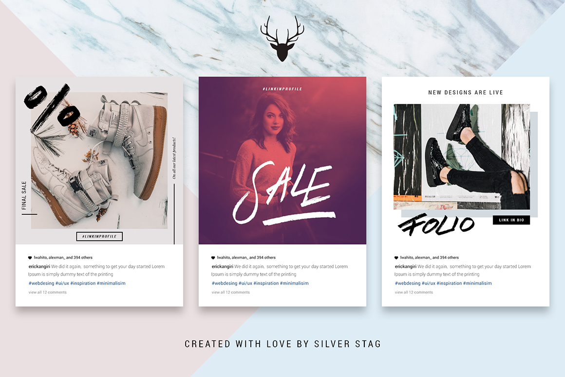 Animated Hand-Drawn Instagram Templates