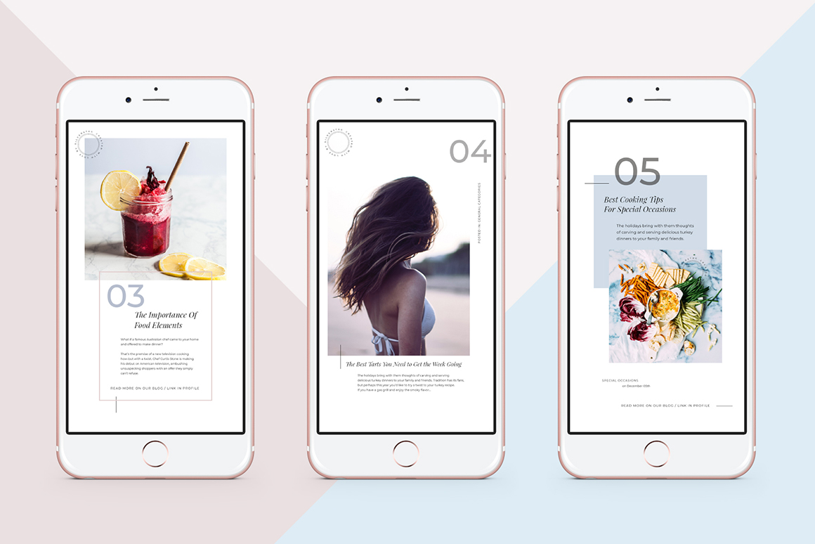 Animated Modern & Clean Instagram Story Templates