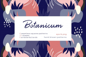 Botanicum - Abstract Floral Pattern Set