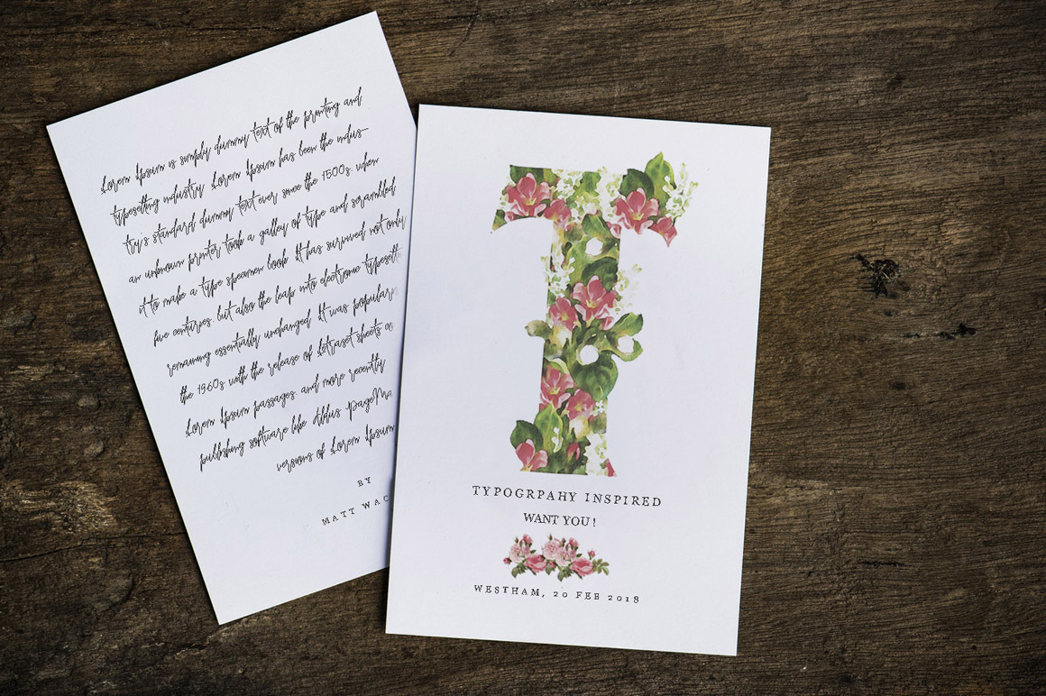 Bouqet Flower & Watercolor SVG Font