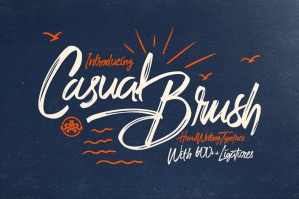 Casual Brush Typeface
