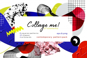 Collage Me - Abstract Art Pattern Set
