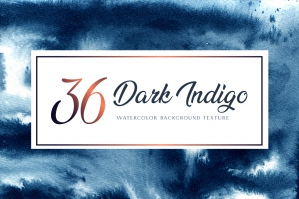 Dark Indigo Watercolor Backgrounds