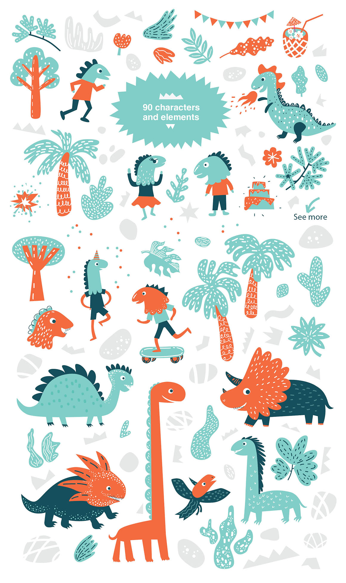 Dino Party -  Graphic Set