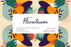 Floralium - Modern Botanical Patterns Set