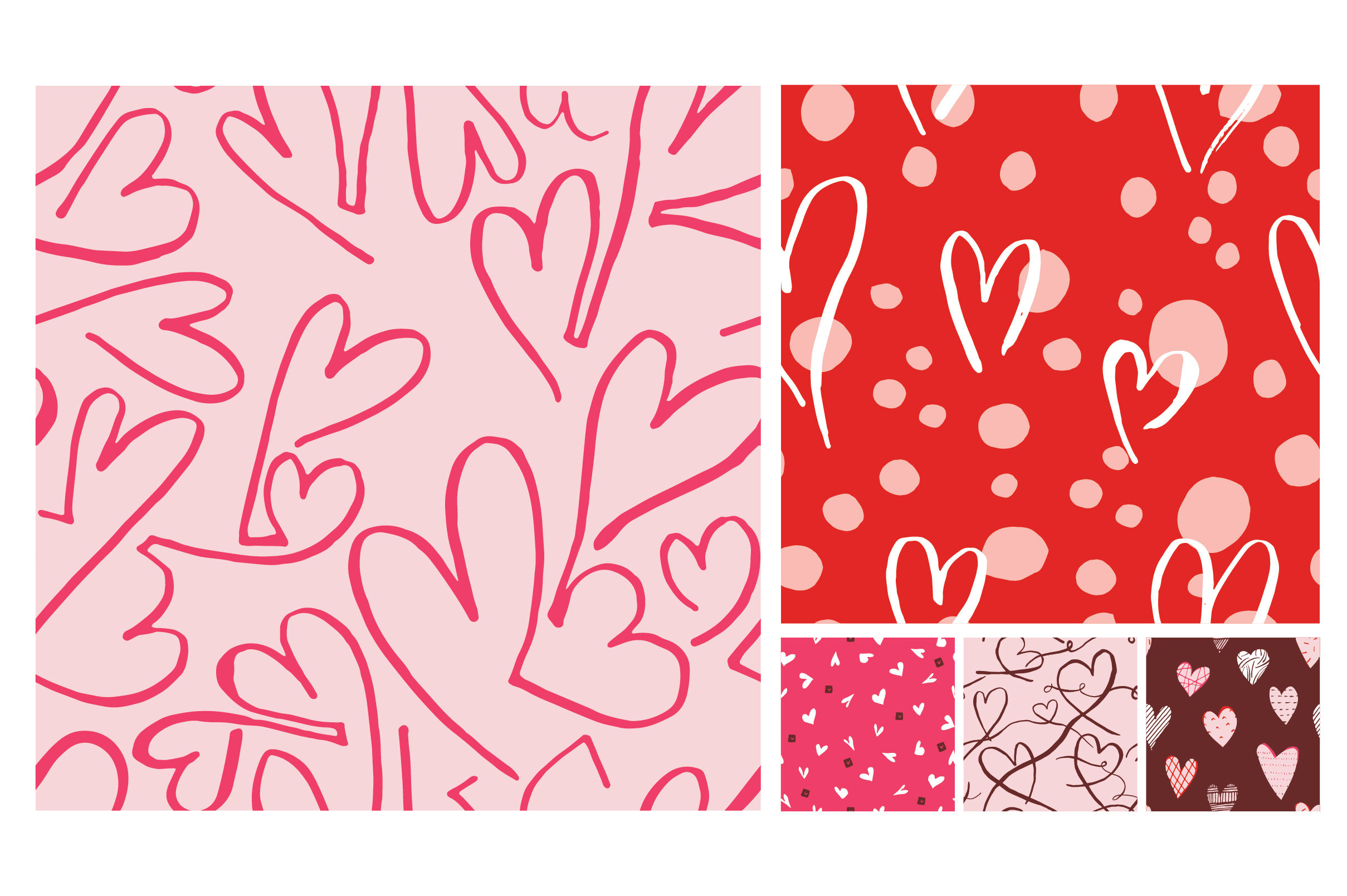Hearts Only Mini Pattern Collection