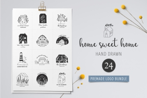 Home Sweet Home - Premade Logos Set