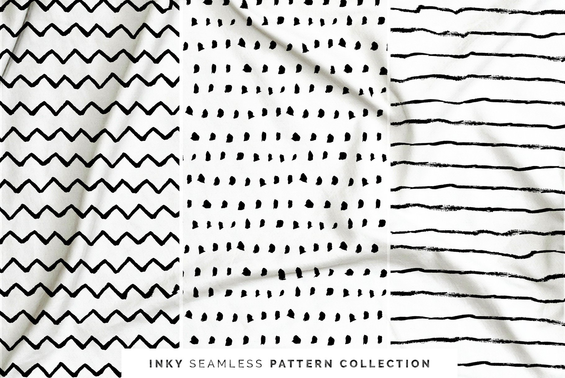 Inky Seamless Vector Patterns Vol. 2
