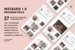 InstaGrid 1.0 - Unique Instagram Puzzle Template