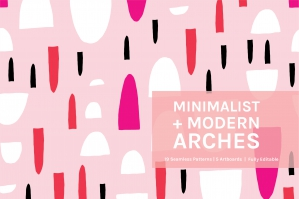 Minimalist And Modern Arches Patterns