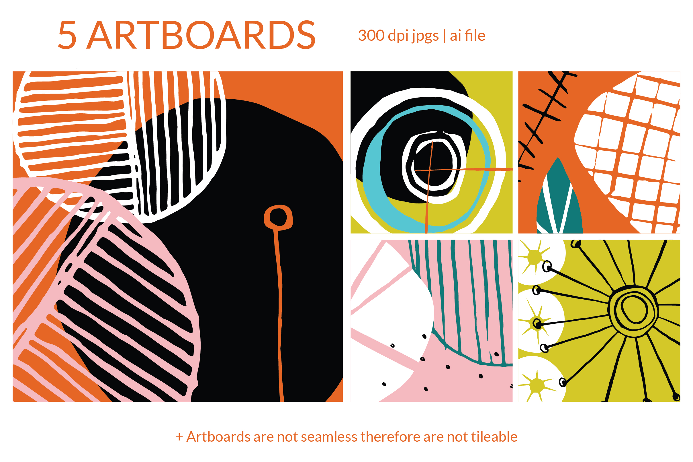 Mod Fifties Art Boards And Patterns