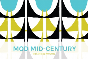 Mod Mid-Century Seamless Patterns