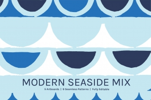 Modern Seaside Art Boards And Patterns