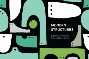 Modern Structure Seamless Patterns