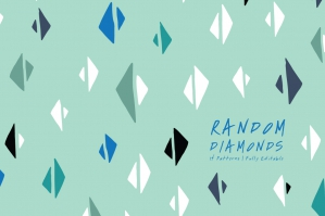 Random Diamonds Seamless Patterns