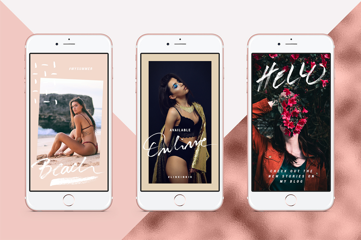 Rose Gold Animated Instagram Story Templates