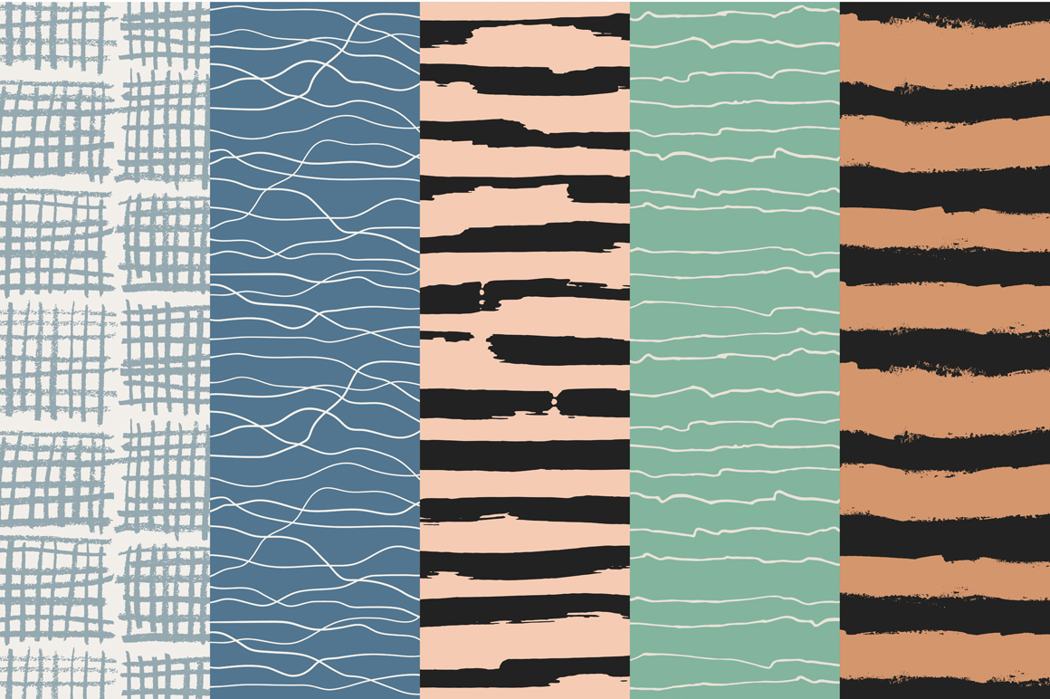 Stripes And Waves Patterns
