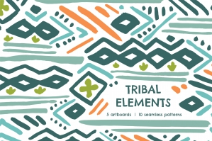 Tribal Element Seamless Patterns