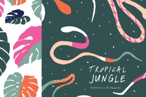 Tropic Jungle Art Boards And Patterns