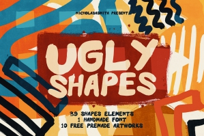 Ugly Shapes - 50 Shape Elements