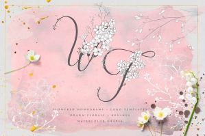 Wonder Flowers - Monograms & Logos