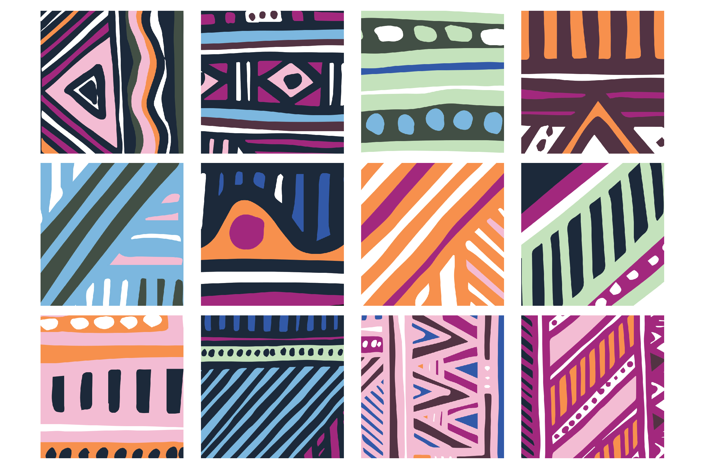 Young And Festive Art Boards & Patterns