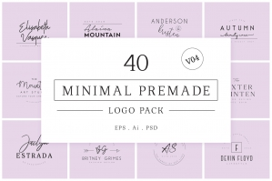 Minimal Premade Logo Collection Version 4